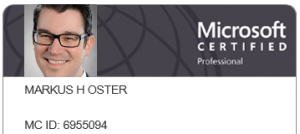 Microsoft Certified Professional MCP Markus Oster egosys GmbH