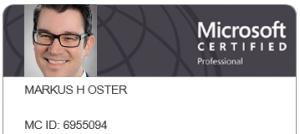 Microsoft Certified Professional MCP Markus Oster egosys GmbH